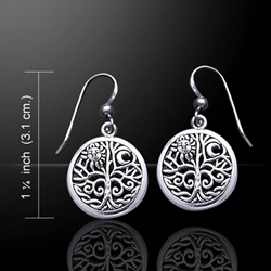 Tree of Life Silver Earrings 52-TER060