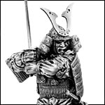 Japanese Warrior Sculptures from Pewter