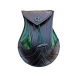 Elven Pouch - Black / Green Leather