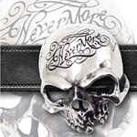 Nevermore Skull Belt Buckle Pewter Alchemy 17-B93