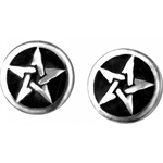 Pentanoir Star Stud Earrings Pewter Alchemy E168