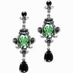 Queen of the Night Earrings Pewter Alchemy E273
