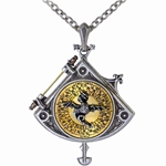 Enlightenment Astral Dragon Quadrant Locket Pewter Alchemy P670