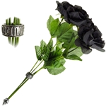 Bouquet of Black Imitation Roses Alchemy ROSE2