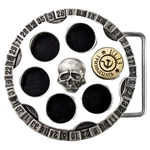 Russian Roulette Belt Buckle Pewter Alchemy ULB7
