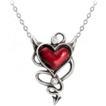 Devil Heart Pendant Pewter Alchemy ULFP20