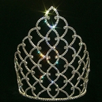 "10"" Traditional Rhinestone Crown - Gold 172-11185G"