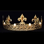 King Crown Gold With Pearls 13082GP