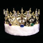 King's Crown with Faux Fleece - Gold 172-15598