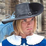 Leather Musketeer Hat 200552