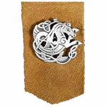 Pewter Celtic Seahorse Leather Bookmark 137.0678