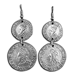 Elizabethan Coin Earrings 132.1032