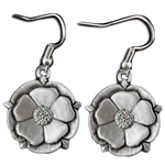 Tudor Rose Pewter Earrings 132.0670