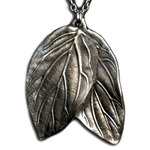 Elven Double Leaf Necklace Pendant 126.0677
