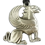Griffin Pewter Pendant Necklace 121.0631