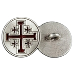 Crusaders Cross Button 107.1355