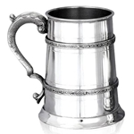 Double Celtic Band Pewter Tankard One Pint  EP023