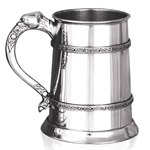 Celtic Lion Double Band One Pint Pewter Tankard
