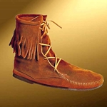 Mens Low Suede Boot With Fringe  100294