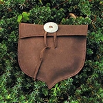 Leather Acorn Shaped Pouch 26-200298