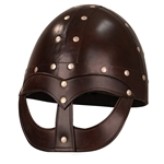 Leather Vendel Viking Helmet,Viking Leather Helm