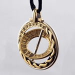 Celtic Explorer Brass Sundial Pendant - Small