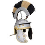 Roman Gallic Helmet Black and White Crest AB3002