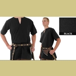 Medieval Tunic, Black, Extra Large