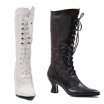 Leather And Lace Knee High Boots