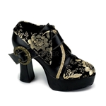 Black and Gold Shoes 34-1109