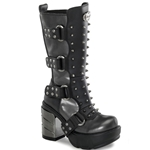Sinister Spike Studded Calf Boots 34-3120
