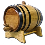 2 Liter Oak Barrel with Black Steel Hoops 37-3001