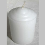 Fifteen Hour White Votive Candle 45-CVAW