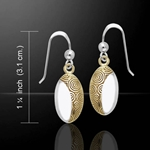 Danu Silver and Gold Celtic Spiral Earrings 52-MER548