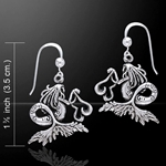Dark Water Fairy Silver Earrings