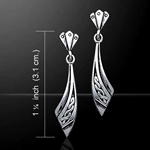 Celtic Knotwork Silver Earrings 52-TE2548