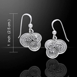 Celtic Silver Spiral Earrings 52-TE2934