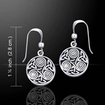 Celtic Silver Spiral Earrings