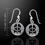 Silver Chalice Well Earrings