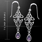 Celtic Knotwork Silver Earrings 52-TER120