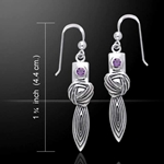 Goddess Knot Silver Earrings 52-TER194