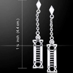 Art Deco Silver Earrings 52-TER219