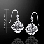 Fiery Cross of Inspiration Celtic Knotwork Silver Earrings