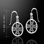 Celtic Tribal Knotwork Cross Silver Earrings 52-TER469