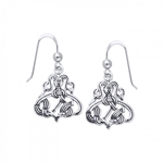 Silver Borre Viking Earrings 52-TER484