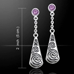 Celtic Maori Silver Earrings