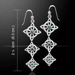 Danu Silver Quaternary Knot Earrings 52-TER552