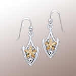Designer Elegant Cubic Zirconia Star Earrings