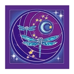 Dragonfly Moon Wall Hanging 63-6