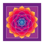 Golden Lotus Wall Hanging 63-7